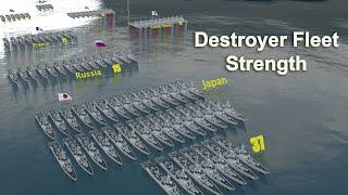 Destroyer Fleet Strength by Country (2021)