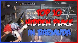 FREE FIRE :Top 10 New Hidden place in Bermuda #ninjagaming