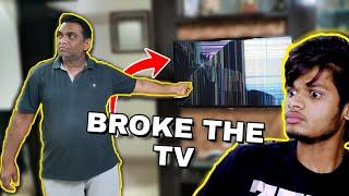 EPIC BROKEN TV Prank on Indian Father | Vlog 17 | AdarshVadi