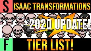 ISAAC TRANSFORMATIONS TIER LIST! - 2020 UPDATE [Binding of Isaac Afterbirth+]