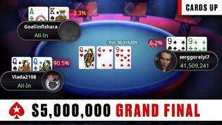 GRAND FINAL $5 MILLION GTD with $822k for 1st ♠️  Stadium Series 2020 - Final tables ♠️ PokerStars