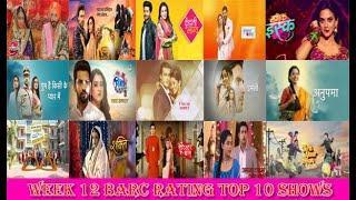 Hindi TV shows Trp week 12 (2021) Top 10 shows