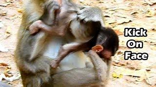 To Bad Condition Mum Anna Take Her Both Legs Kick Alba Out Her Body |Anna Really Want Stop Give Milk