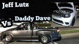 Street Outlaws Jeff Lutz vs Daddy Dave Epic Race!!!