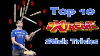 *NEW* Top 10 EXTREME Stick Tricks || EMC Stick Trick Tutorial 3