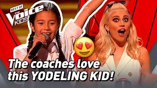 10-Year-Old Rachel sings a YODEL SONG in The Voice Kids!