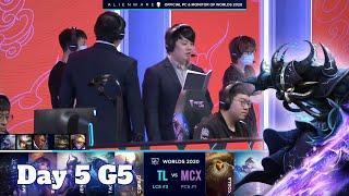 TL vs MCX | Day 5 Group A S10 LoL Worlds 2020 | Team Liquid vs Machi Esports - Groups full game