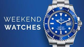 """Rolex Submariner BLUE """"Smurf""""; Omega Seamaster Diver 300M: Watches To Buy From Home"""