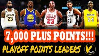 Top 10 All-time Points Leaders in NBA Playoff History