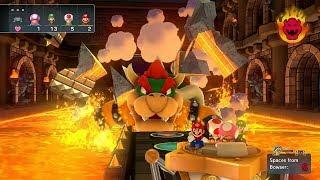 Mario Party 10 Bowser Party #381 Toadette, Luigi, Toad, Mario Chaos Castle Master Difficulty