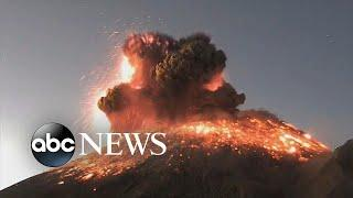 Volcanic eruption sends explosion of ash, smoke into sky in Mexico   ABC News
