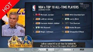 "The Herd | Colin ""heated"" NBA's top 10 All-time players: LeBron Ranked #2 on all-time list behind MJ"