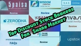 Top Discount Stock Brokers  For Share Market