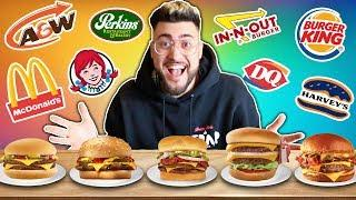 EATING ONLY Fast Food Cheeseburgers for 24 HOURS !! (Who has the BEST CHEESEBURGER