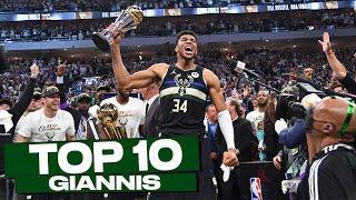 Top 10 Giannis Antetokounmpo's Playoff Plays!