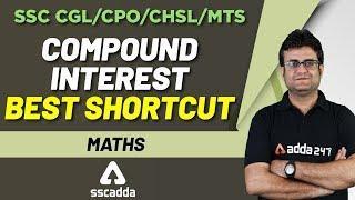Maths | SSC MTS | CHSL 2019 | Compound Interest With Best Shortcut