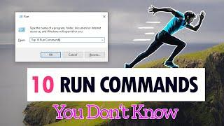 TOP 10 AMAZING Windows 10 Run Commands, Tips and Tricks (That You Probably Don't Know