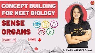 Sense Organs Part-2 | Class 11 NEET Biology | NEET 2020 | Dr. Vani Sood | Vedantu