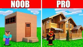Noob vs. Pro Realistic Minecraft House Build Battle! (Preston)