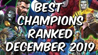 Best Champions Ranked December 2019 - Seatin's Tier List - Marvel Contest of Champions