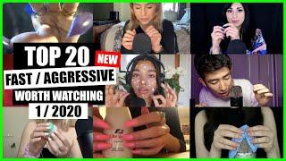 ASMR / FAST / AGGRESSIVE (Hand Sounds, Mouth Sounds, Tapping) / TOP 20 / 1/2020 / ASMR Charts