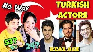 Guess The Age Challenge | Pakistanis React to Top 10 Handsome Turkish Actors