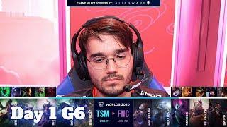 TSM vs FNC | Day 1 Group C S10 LoL Worlds 2020 | TSM vs Fnatic - Groups full game