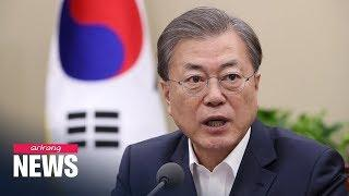 President Moon vows all possible measures to contain coronavirus