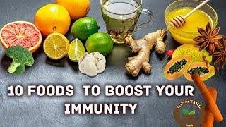 Best 10 Foods To Boost Your Immunity| Immunity Boosting Foods | TOP 10 TAMIL INFO