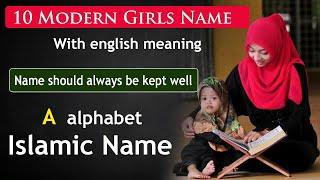 Top 10 Girls Name with English meaning | Girls name | Muslim girls name with meaning starting with A