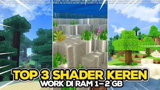 TOP 3 SHADER CIAMIK WORK DI RAM 1-2 GB MCPE 1.14-1.15!