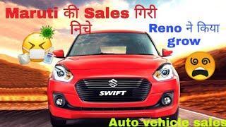 Top 10 company's cars sales figures। Maruti's sales figure down।