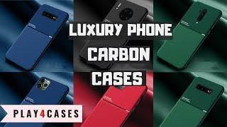 Leather Slim Carbon Fiber Case FOR ALL TOP PHONES (iphone/samsung/huawei/oneplus/xiaomi)