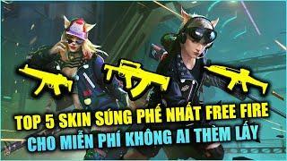 Free Fire | TOP 5 Skin Súng Phế Nhất Trong Garena Free Fire Cho Không Ai Thèm Lấy | Rikaki Gaming