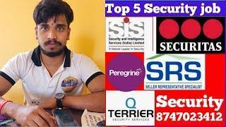 Top 5 jobs in banglore || Room Food Available job || Security guard job #Ganeshagency