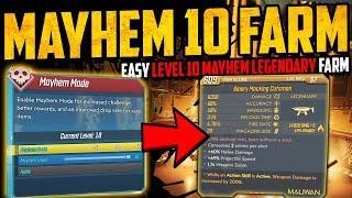 MAYHEM 10 EASY LEGENDARY FARM - Easy BEST GEAR Farm Guide - Borderlands 3 - Mayhem 2.0 - MUST SEE