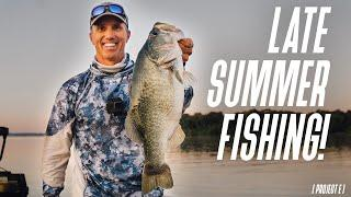 You can still catch BIG BASS in LATE SUMMER!! // How to survive the August/September LULL in fishing