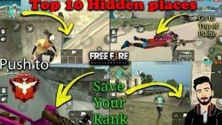 Top 10 hiding place in free fire for rank push