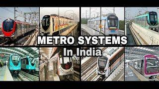 All Metro Systems Of India| Operational |Under Construction |Planned | Cancelled |All Indian Metro's