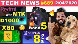 Redmi Phone With MTK D1000, realme X60 Specs, redmi Band & Mi Band 5 Launch,OnePlus 8 Pro-#TTN689