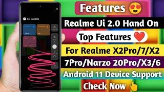 Features! Realme Ui 2.0 Hand On - Top Features ~ Realme Ui 2.0 All Features Review Android 11 Device