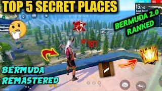 TOP SECRET PLACES IN BERMUDA REMASTERED RANKED FREE FIRE | BERMUDA 2.0 RANKED TRICKS | TAMIL TUBERS