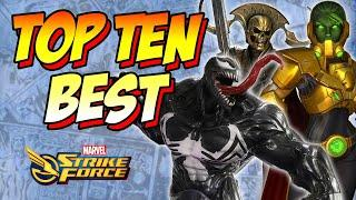 Top 10 FTP Characters in Marvel Strike Force May 2020