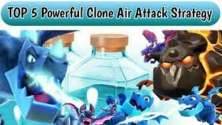 TOP 5 Powerful Clone Spell Air Attack strategy Town Hall 12! - Clash Of Clans