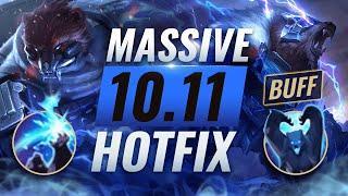 MASSIVE HOTFIX BUFFS: Volibear Rework EMERGENCY Changes Patch 10.11 - League of Legends Season 10