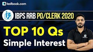 IBPS RRB Clerk 2020   Top 10 Important Simple Interest Questions for RRB PO   Maths Tricks for Bank