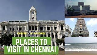Places to Visit in Chennai City | 8 hours | Top 10 Places | 15 KM Range