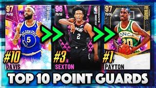 TOP 10 POINT GUARDS IN NBA 2K21 MyTEAM!!