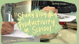 STUDY VLOG: productive study sessions in school ~