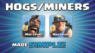 *HOG/MINER HYBRID* BEST TH13 Attack Strategy - 15 x Hogs & 15 x Miners - Clash of Clans